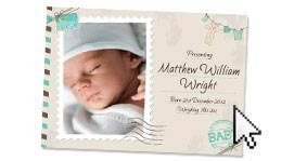 Add personalised birth announcement wording